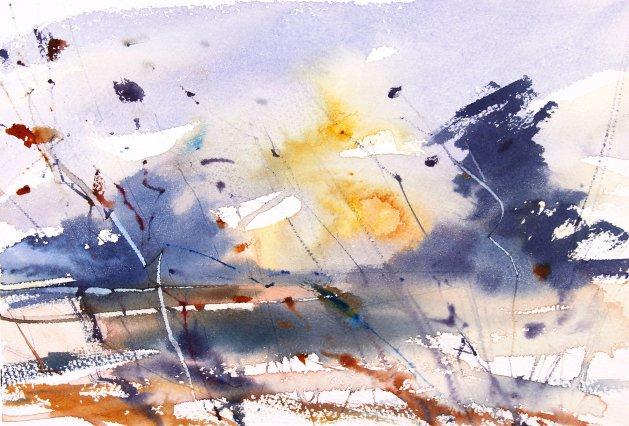 Autumn Wetland. Original art by Adrian Homersham