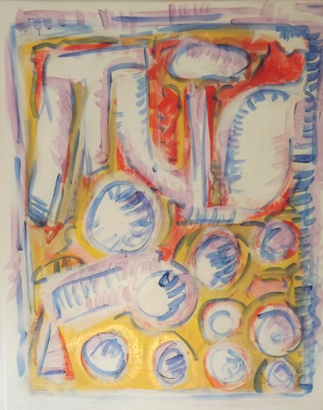 oranges on table. Original art by Philip Young