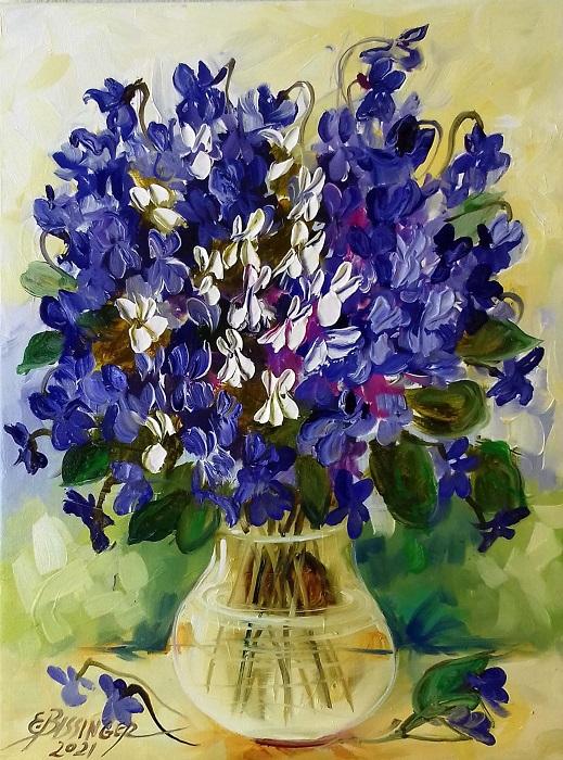 toporasi albi si violet, Bissinger. Original art by Elena Bissinger