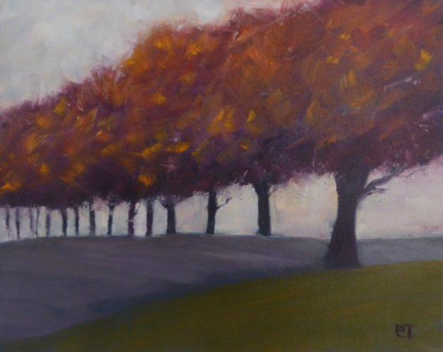 Autumnal. Original art by Christine Ingram