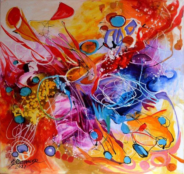 The emotion of a sunset,Abstract Bissinger. Original art by Elena Bissinger