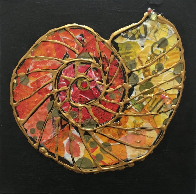 Ammonite: Tequila Sunrise. Original art by Miranda Pender