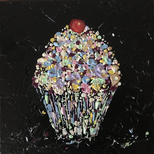 Cupcake. Original art by Miranda Pender