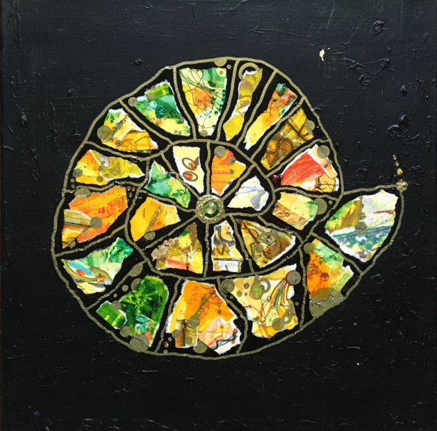 Ammonite: Mediterranean. Original art by Miranda Pender