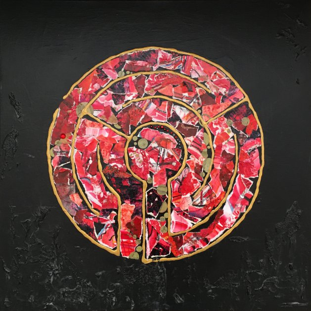 Labyrinth: Ruby Red. Original art by Miranda Pender
