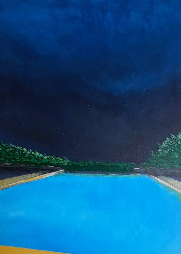 Midnight Rendevous. Original art by Andy Ingram