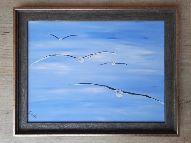 Journey of the Wandering Albatross. Original art by Andy Ingram