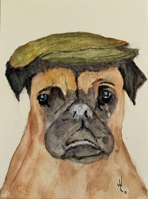 Pug. Original art by Wendy Lloyd