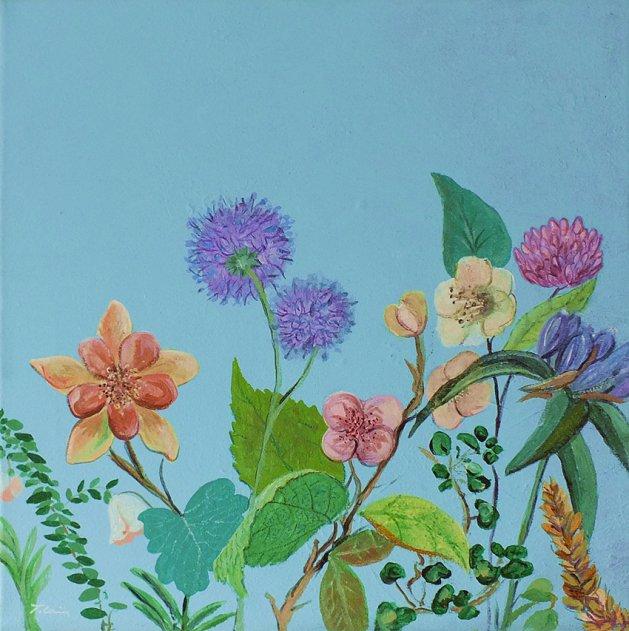 In Full Bloom. Original art by Tracey Unwin