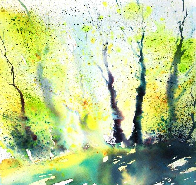 Spring Light & Texture. Original art by Adrian Homersham