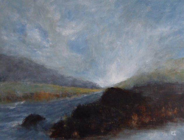 Lost in the Landscape. Original art by Christine Ingram