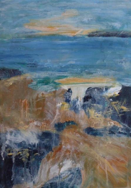 Coastal Vibes. Original art by Christine Ingram