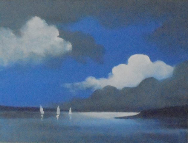 Sea and Sails. Original art by Steve Hawthorn