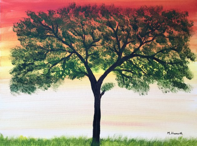 Tree. Original art by Monika Howarth