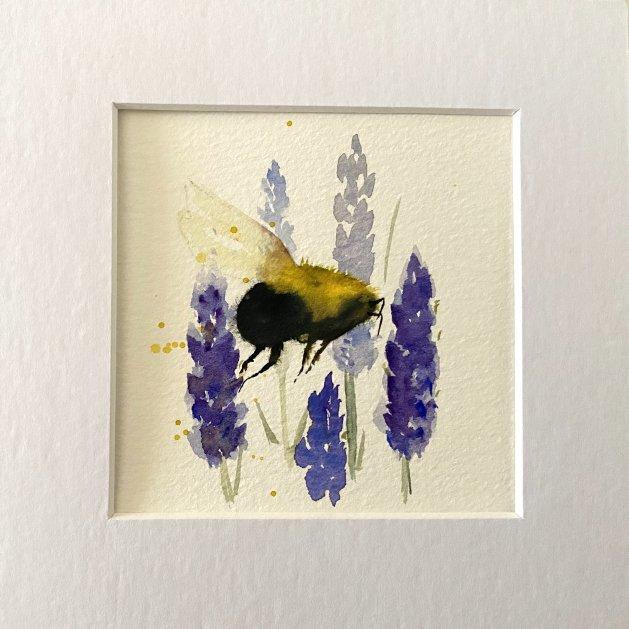 Bee & Lavender. Original art by Teresa Tanner
