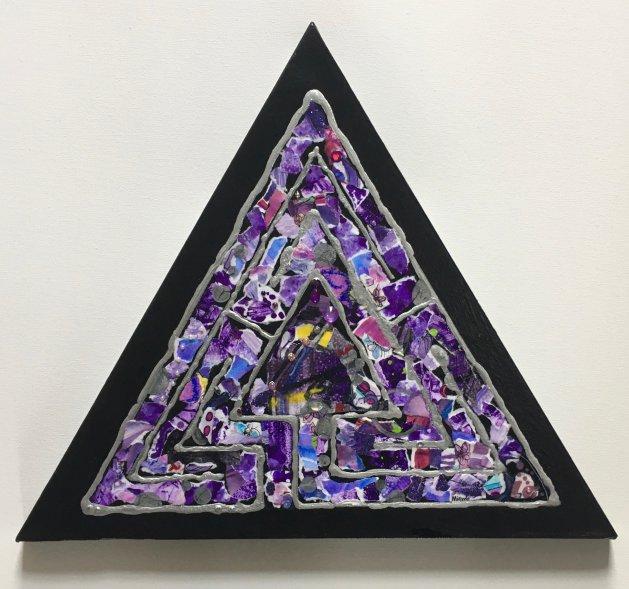 Labyrinth: Violet & Amethyst. Original art by Miranda Pender