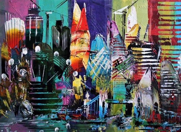 London Fab Abstract 695. Original art by Eraclis Aristidou