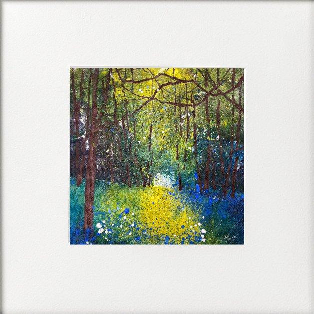 Seasons -Spring Bluebells Abundant. Original art by Teresa Tanner