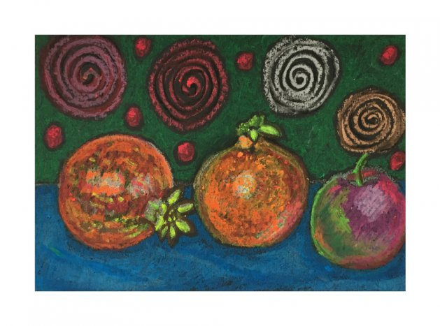 Abstract Fruit 2. Original art by Andi Williams