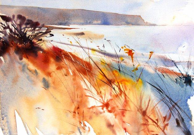 Bracken in the Dunes #2. Original art by Adrian Homersham