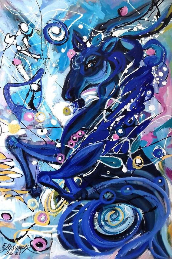 capricorn. Original art by Elena Bissinger