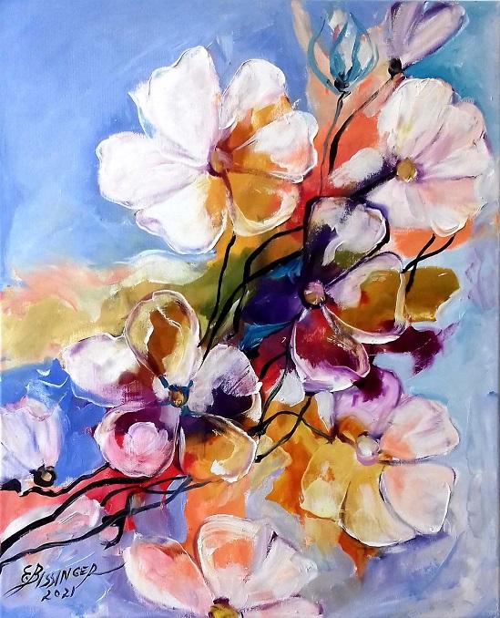 Din copacul cu flori. Original art by Elena Bissinger