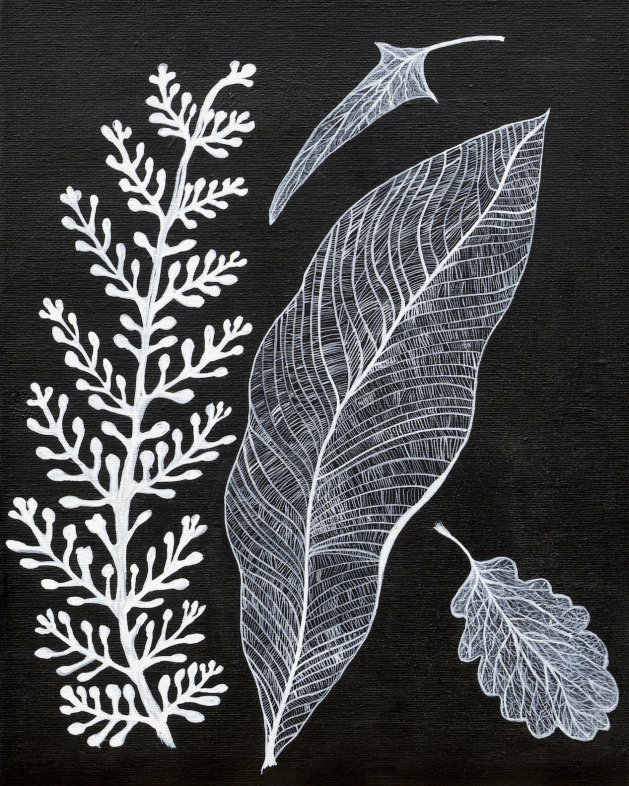 Jacks Frosted Leaves. Original art by Sue Wright