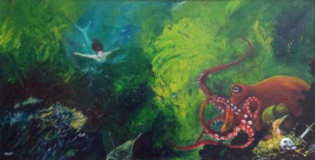The Octopus's Treasure. Original art by Mark Pender