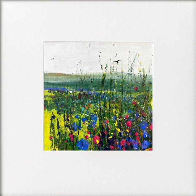 Seasons - Summer Field of Wildflowers. Original art by Teresa Tanner