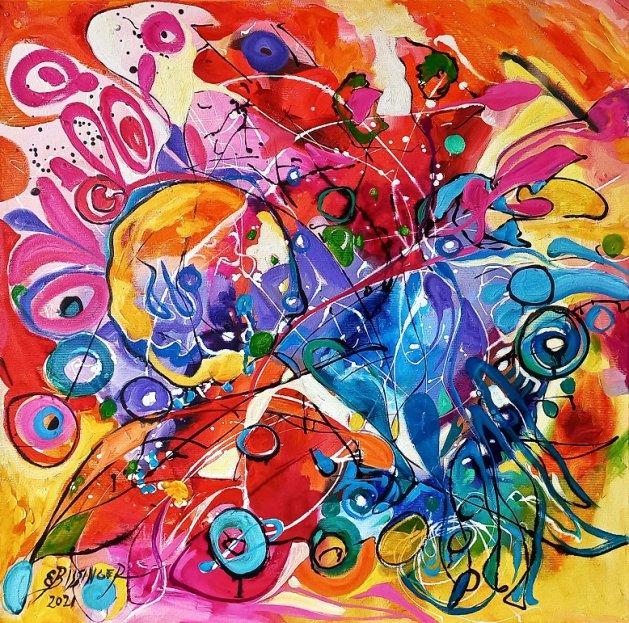 Ochii misteriosi 2 ,abstract Bissinger. Original art by Elena Bissinger