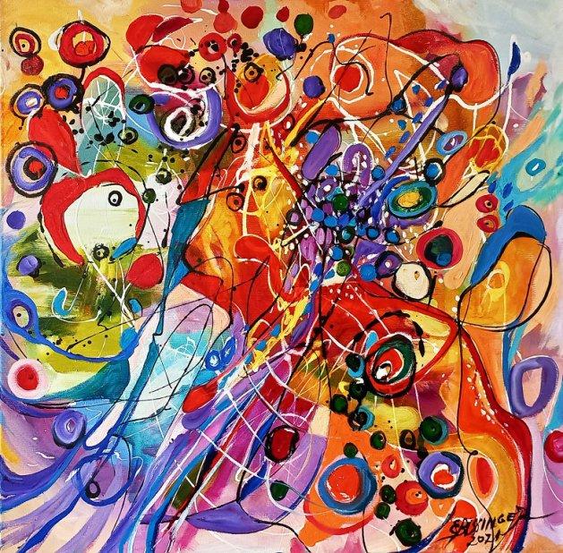 Ochii misteriosi 3 ,abstract Bissinger. Original art by Elena Bissinger