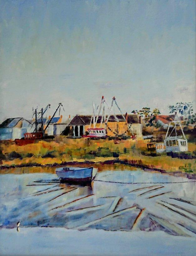 Brancaster Staithe Norfolk. Original art by John Walker
