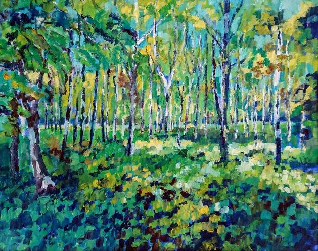 Summer woods. Original art by John Walker