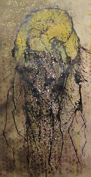 Ochre Shower. Original art by Bea Roberts