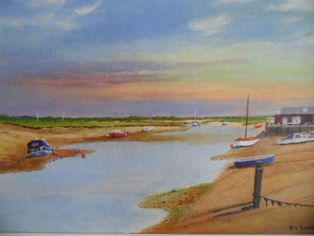Wells-next-the-sea. Original art by Philip Smith