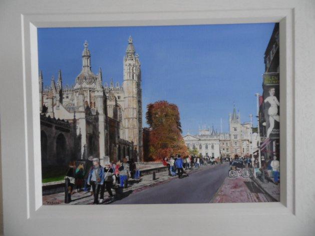 Kings Parade,Cambridge. Original art by Philip Smith