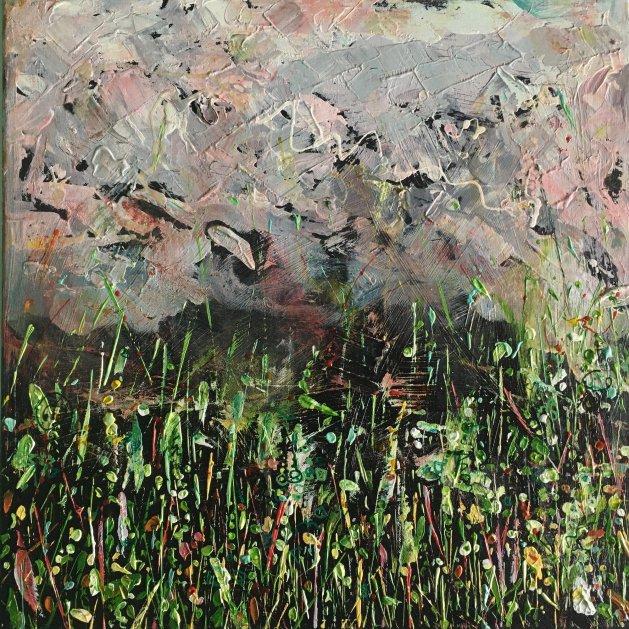 Sudden Storm – Original Mixed Media Painting. Original art by Miranda Pender